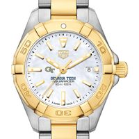Georgia Tech TAG Heuer Two-Tone Aquaracer for Women