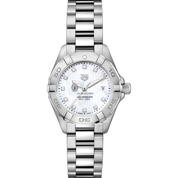 Georgetown Women's TAG Heuer Steel Aquaracer with MOP Diamond Dial - Image 2