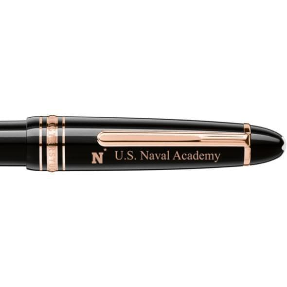 US Naval Academy Montblanc Meisterstück LeGrand Ballpoint Pen in Red Gold - Image 2