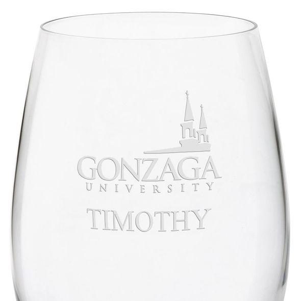 Gonzaga Red Wine Glasses - Set of 4 - Image 3