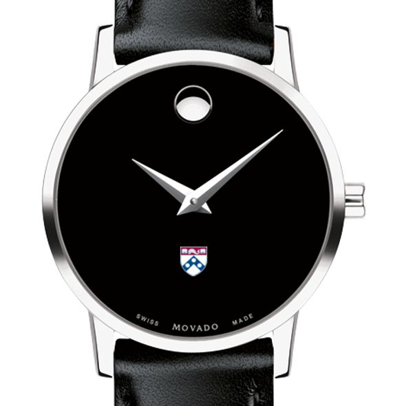 University of Pennsylvania Women's Movado Museum with Leather Strap