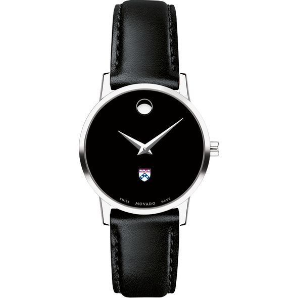 University of Pennsylvania Women's Movado Museum with Leather Strap - Image 2