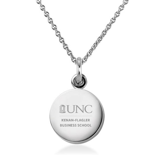 UNC Kenan-Flagler Necklace with Charm in Sterling Silver