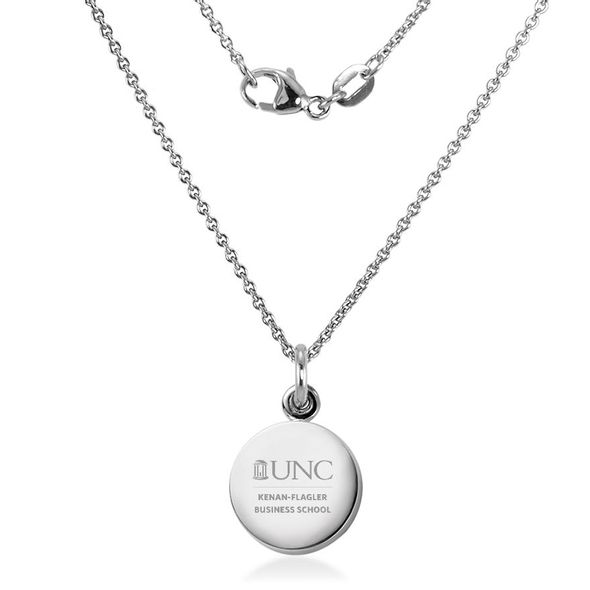 UNC Kenan-Flagler Necklace with Charm in Sterling Silver - Image 2
