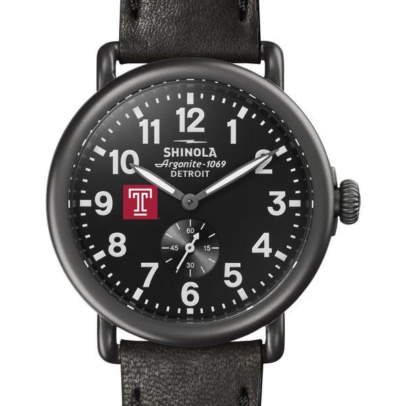 Temple Shinola Watch, The Runwell 41mm Black Dial