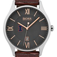 University of Illinois Men's BOSS Classic with Leather Strap from M.LaHart