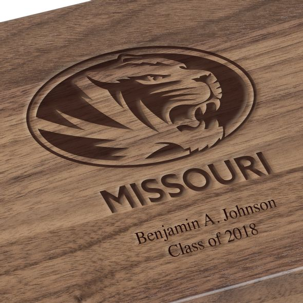 University of Missouri Solid Walnut Desk Box - Image 3
