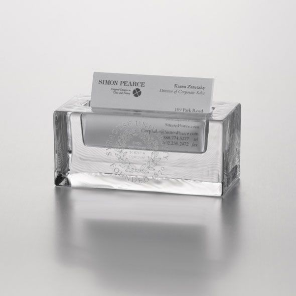 Syracuse University Glass Business Cardholder by Simon Pearce