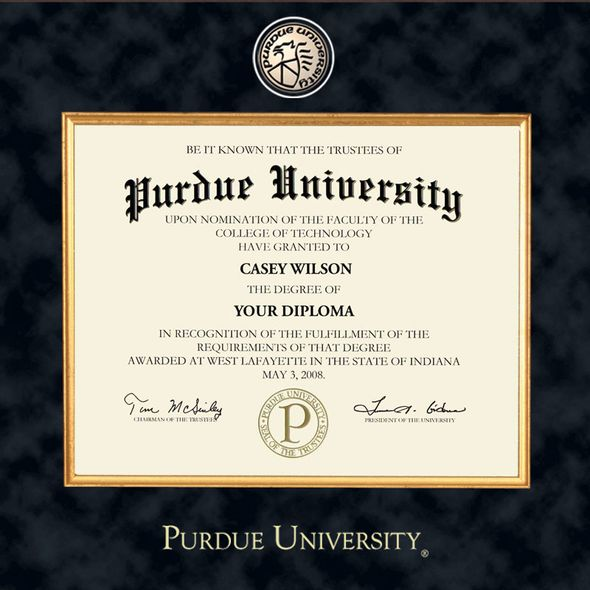 Purdue University Masters/PhD Diploma Frame - Excelsior - Image 2