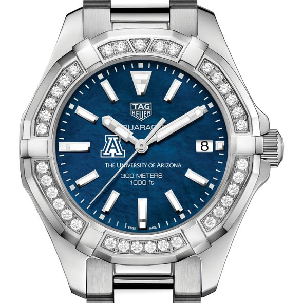 Arizona Women's TAG Heuer 35mm Steel Aquaracer with Blue Dial - Image 1