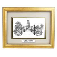 Framed Pen and Ink Lehigh University Print