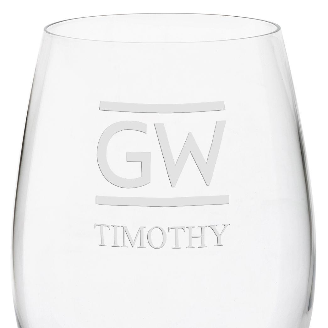 George Washington University Red Wine Glasses - Set of 4 - Image 3