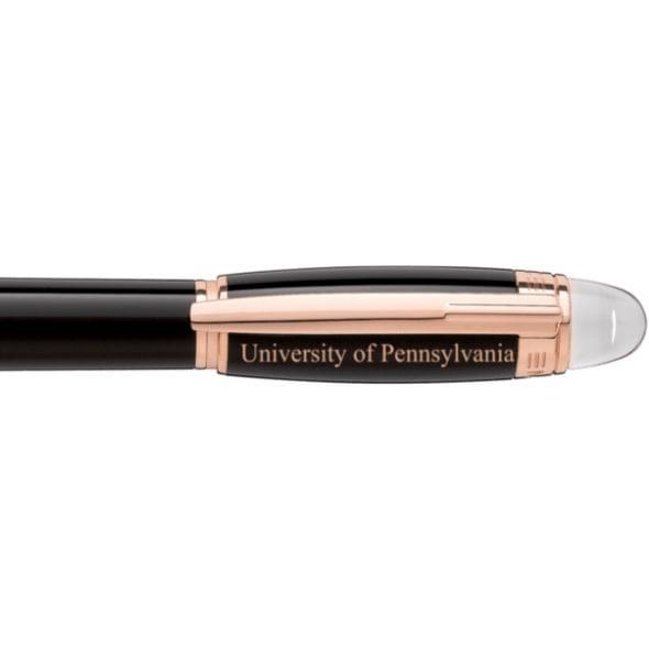 University of Pennsylvania Montblanc StarWalker Fineliner Pen in Red Gold - Image 2