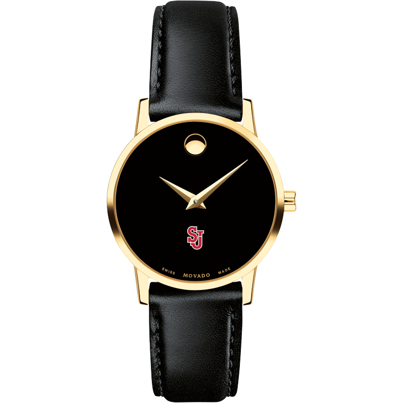 St. John's Women's Movado Gold Museum Classic Leather - Image 2
