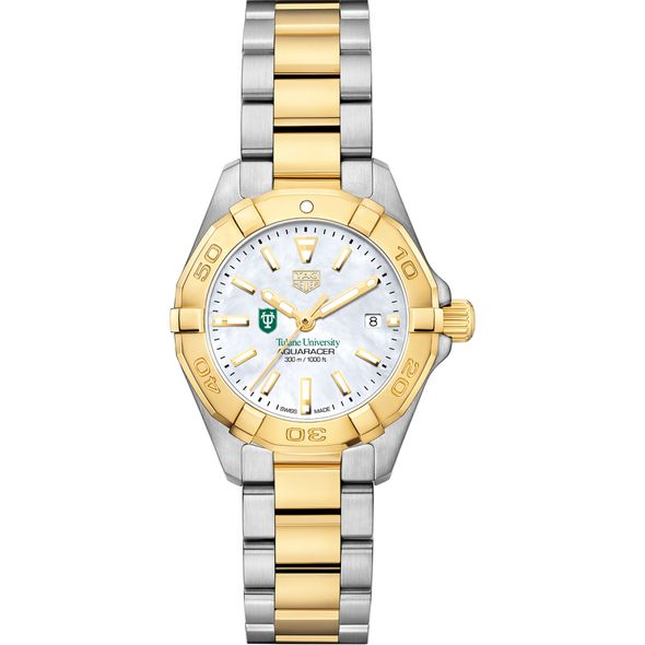 Tulane University TAG Heuer Two-Tone Aquaracer for Women - Image 2