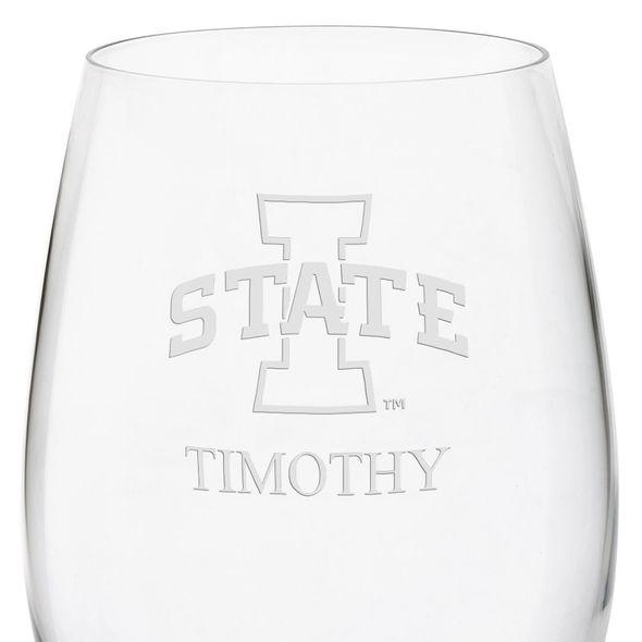 Iowa State University Red Wine Glasses - Set of 4 - Image 3
