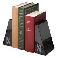 Northwestern University Marble Bookends by M.LaHart