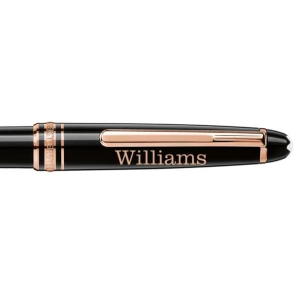 Williams College Montblanc Meisterstück Classique Ballpoint Pen in Red Gold - Image 2