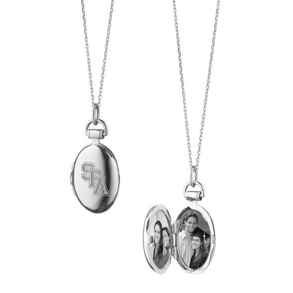 SFASU Monica Rich Kosann Petite Locket in Silver