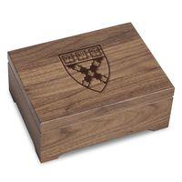 Harvard Business School Solid Walnut Desk Box