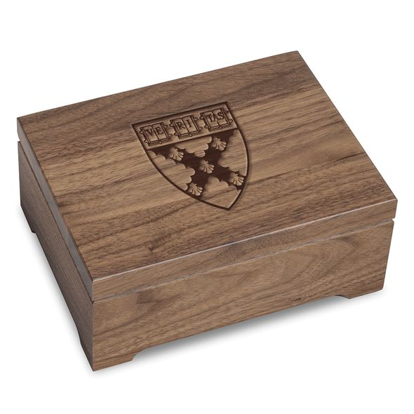 Harvard Business School Solid Walnut Desk Box
