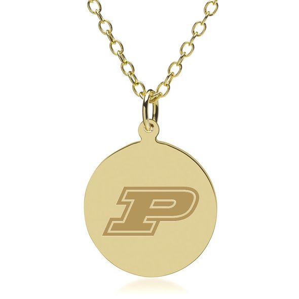 Purdue University 14K Gold Pendant & Chain
