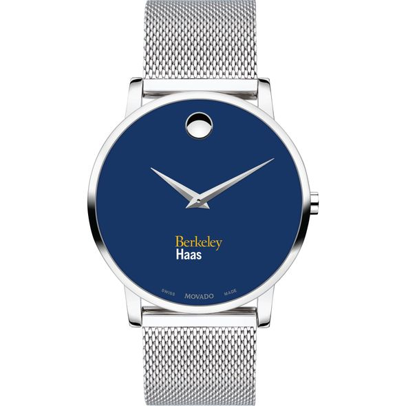 Haas School of Business Men's Movado Museum with Blue Dial & Mesh Bracelet - Image 2