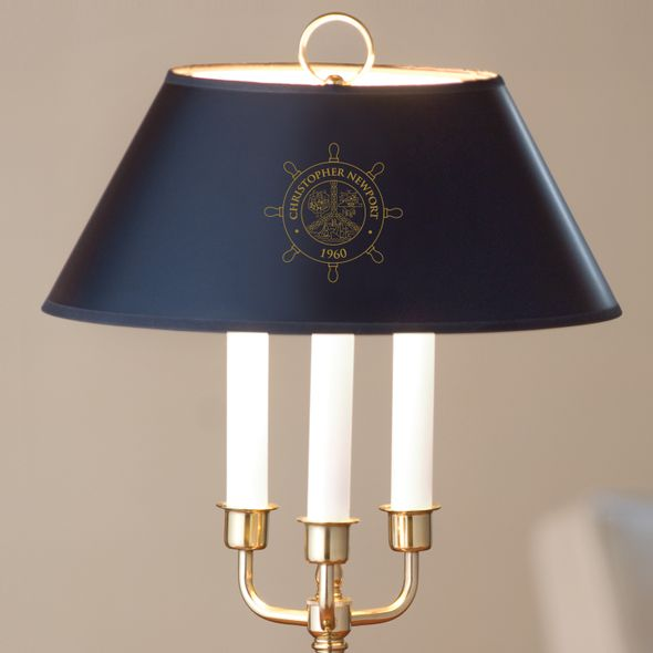 Christopher Newport University Lamp in Brass & Marble - Image 2