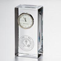 Miami University Tall Glass Desk Clock by Simon Pearce