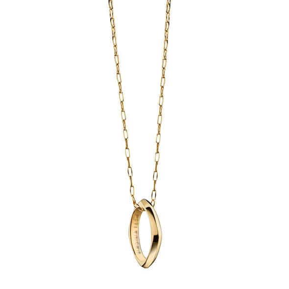 Virginia Tech Monica Rich Kosann Poesy Ring Necklace in Gold - Image 2