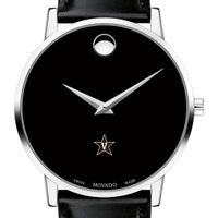 Vanderbilt University Men's Movado Museum with Leather Strap