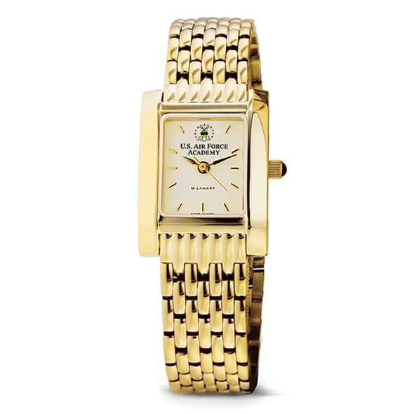 USAFA Women's Gold Quad Watch with Bracelet - Image 2