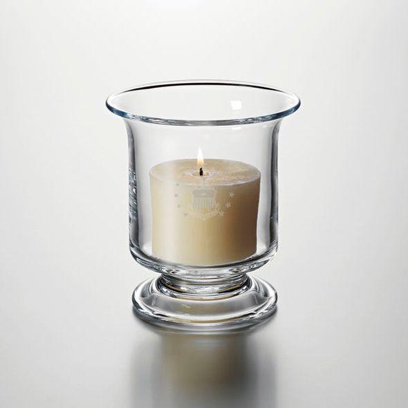 USAFA Glass Hurricane Candleholder by Simon Pearce