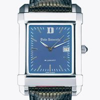 Duke Men's Blue Quad Watch with Leather Strap