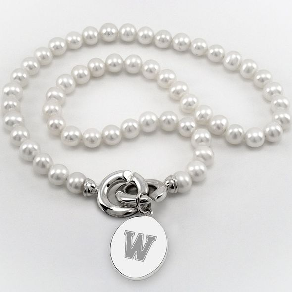 Williams College Pearl Necklace with Sterling Silver Charm