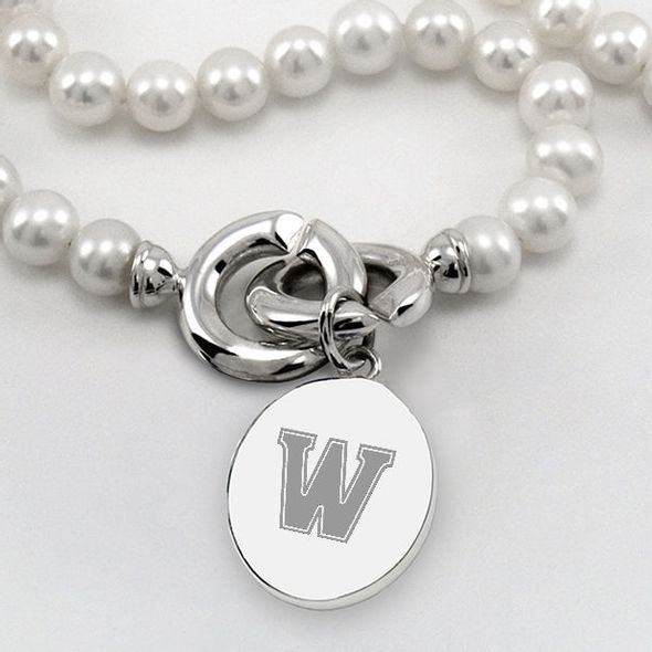 Williams College Pearl Necklace with Sterling Silver Charm - Image 2