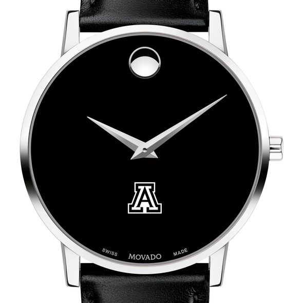 University of Arizona Men's Movado Museum with Leather Strap