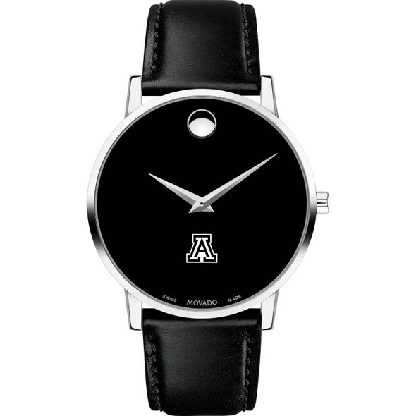University of Arizona Men's Movado Museum with Leather Strap - Image 2