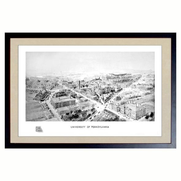 Historic University of Pennsylvania Black and White Print - Image 1