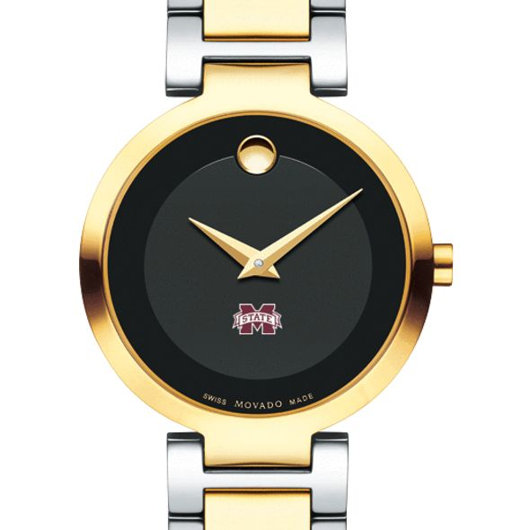 Mississippi State Women's Movado Two-Tone Modern Classic Museum with Bracelet