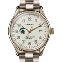 Michigan State Shinola Watch, The Vinton 38mm Ivory Dial