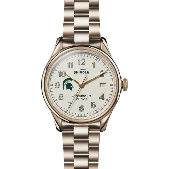Michigan State Shinola Watch, The Vinton 38mm Ivory Dial - Image 2
