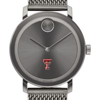 Texas Tech Men's Movado BOLD Gunmetal Grey with Mesh Bracelet