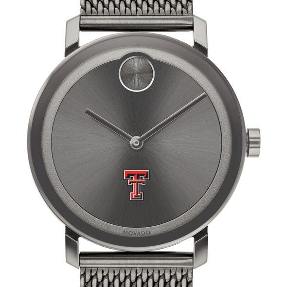 Texas Tech Men's Movado BOLD Gunmetal Grey with Mesh Bracelet