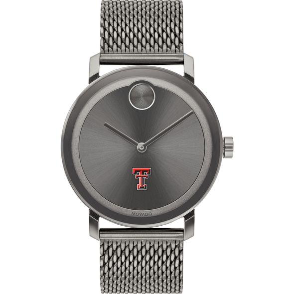Texas Tech Men's Movado BOLD Gunmetal Grey with Mesh Bracelet - Image 2