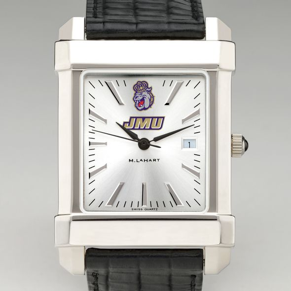 James Madison Men's Collegiate Watch with Leather Strap