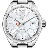 University of Miami Women's TAG Heuer Formula 1 with MOP Dial