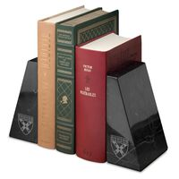Harvard Business School Marble Bookends by M.LaHart