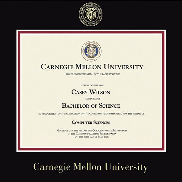 Carnegie Mellon University Diploma Frame, the Fidelitas - Image 2