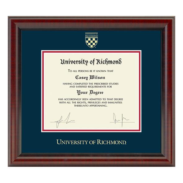 University of Richmond Diploma Frame, the Fidelitas